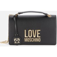 Love Moschino Womens Logo Shoulder Bag - Black