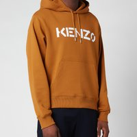 KENZO Men's Logo Classic Hooded Sweatshirt - Dark Beige - XL