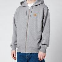 KENZO Men's Tiger Crest Full Zip Hooded Sweatshirt - Dove Grey - S