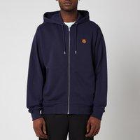 KENZO Men's Tiger Crest Full Zip Hooded Sweatshirt - Navy Blue - XL