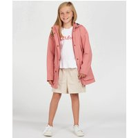 Barbour Girls Clyde Waterproof Jacket - Vintage Rose - XL (12-13 Years)