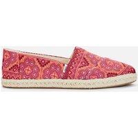TOMS Women's Alpargata Rope Espadrilles - Pink Multi Floral Woven - UK 6