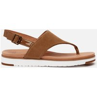 UGG Women's Alessia Suede Toe Post Sandals - Coffee Grounds - UK 6