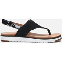 UGG Women's Alessia Suede Toe Post Sandals - Black - UK 5
