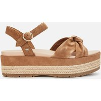 UGG Women's Trisha Suede Flatform Sandals - Chestnut - UK 5