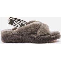 UGG Women's Fab Yeah Sheepskin Slippers - Charcoal - UK 7