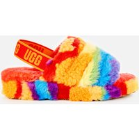 UGG Women's Fluff Yeah Pride Collection Slippers - Rainbow Stripe - UK 7