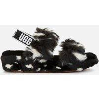 UGG Women's Oh Yeah Spots Slippers - Black - UK 5