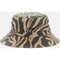 Ganni Women's Printed Cotton Poplin Bucket Hat - Tannin - M/L