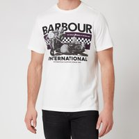 Barbour International Mens Racer T-Shirt - Whisper White - L