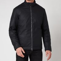 Barbour Tartan Mens Barnby Wax Jacket - Navy - M