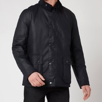 Barbour Tartan Mens Horto Wax Jacket - Navy - L