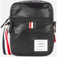 Thom Browne Mens Cross Body Camera Bag with Rwb Strap - Blac