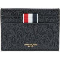 Thom Browne Men's Single Card Holder In Pebble Grain - Black