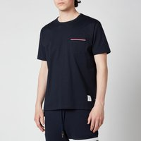 Thom Browne Men's Tricolour Pocket T-Shirt - Navy - 3/L