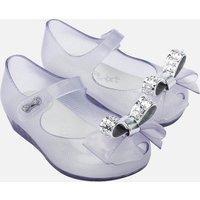 Mini Melissa Toddlers' Mini Ultragirl Stars Ballet Flats - Clear Dust Bow - UK 5 Toddler