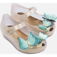Mini Melissa Toddlers' Mini Ultragirl Butterfly Ballet Flats - Pearl Contrast - UK 8 Toddler