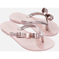 Mini Melissa Kids' Harmonic Stars Flip Flops - Blush - UK 13 Kids