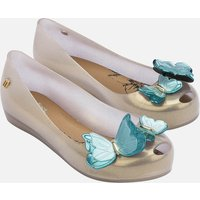 Mini Melissa Kids' Ultragirl Butterfly Ballet Flats - Pearl Contrast - UK 12.5 Kids