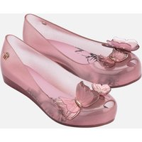 Mini Melissa Kids' Ultragirl Butterfly Ballet Flats - Pink Glitter - UK 13 Kids