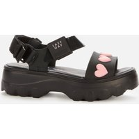 Melissa X Lazy Oaf Women's Kick Off Sandals - Black Heart - UK 4