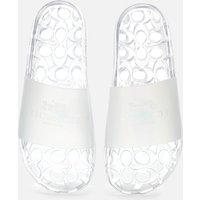 Coach Women's Ulyssa Rubber Slide Sandals - Clear - UK 7