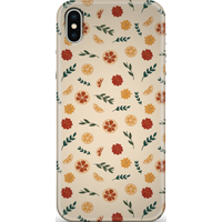 Floral Fruit Peach Background Phone Case for iPhone and Android - iPhone 11 Pro Max - Snap Case - Ma
