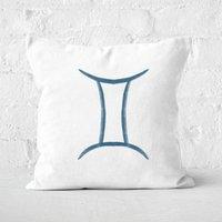 Gemini Symbol Square Cushion - 50x50cm - Soft Touch