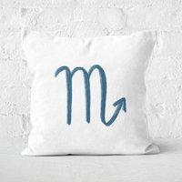 Scorpio Symbol Square Cushion - 50x50cm - Soft Touch