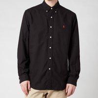 Polo Ralph Lauren Mens Custom Fit Oxford Shirt - Polo Black - M