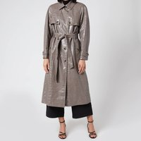 Whistles Women's Croc Belted Trench Coat - Grey - XS