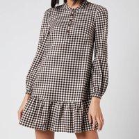 Whistles Women's Gingham Dress - Brown/Multi - UK 8