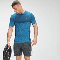 MP Mens Essential Seamless Short Sleeve T-Shirt - Bright Blue Marl  - M
