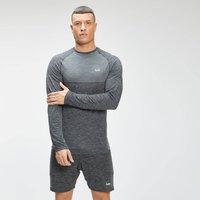MP Men's Essential Seamless Long Sleeve Top - Black Marl  - XL