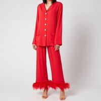 Sleeper Women's Party Pyjama Set with Feathers - Red - M