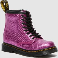 Dr. Martens Toddlers' 1460 Patent Lamper Lace Up Boots - Pink Reptile Emboss - UK 6 Toddler