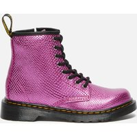 Dr. Martens Kids' 1460 Patent Lamper Lace Up Boots - Pink Reptile Emboss - UK 1 Kids