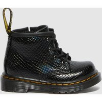 Dr. Martens Babies' 1460 Patent Lamper Lace Up Boots - Black Reptile Emboss - UK 4 Baby