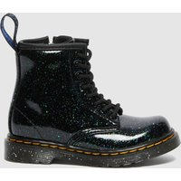 Dr. Martens Toddlers' 1460 Patent Lamper Lace Up Boots - Green Cosmic Glitter - UK 9 Kids