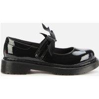 Dr. Martens Kids Maccy II Mary Jane Shoe - Black Patent - UK 10 Kids