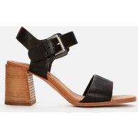 Clarks Women's Landra70 Strap Leather Heeled Sandals - Black - UK 7