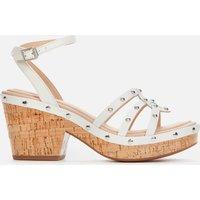 Clarks Women's Maritsa70 Sun Platform Heeled Sandals - White Interest - UK 3