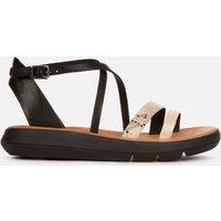 Clarks Women's Jemsa Strap Leather Sandals - Black Combi - UK 4