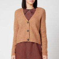 Ganni Women's Soft Wool Knit Cardigan - Tigers Eye - L