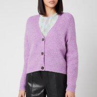 Ganni Women's Soft Wool Knit Cardigan - Pastel Lilac - L
