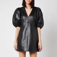 Ganni Women's Lamb Leather Dress - Black - EU 40/ UK 12