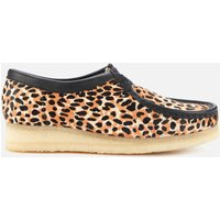 Clarks Original Women's Wallabee Suede Shoes - Leopard - UK 4