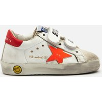 Golden Goose Deluxe Brand Toddlers' Old School Leather Trainers - White/Ice/Orange Fluo/Cherry Red -