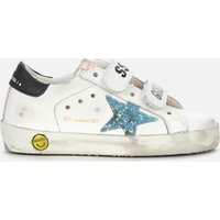 Golden Goose Deluxe Brand Toddlers' Old School Leather Trainers - White/Light Blue/Black -UK - UK 4