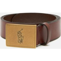 Polo Ralph Lauren Men's 36mm Plaque Vachetta Belt - Brown - L/W36